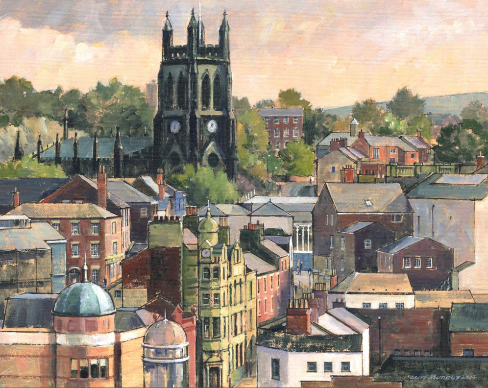 St Mary's in the Marketplace - Stockport by Cliff Murphy, Landscape | Local | Northern