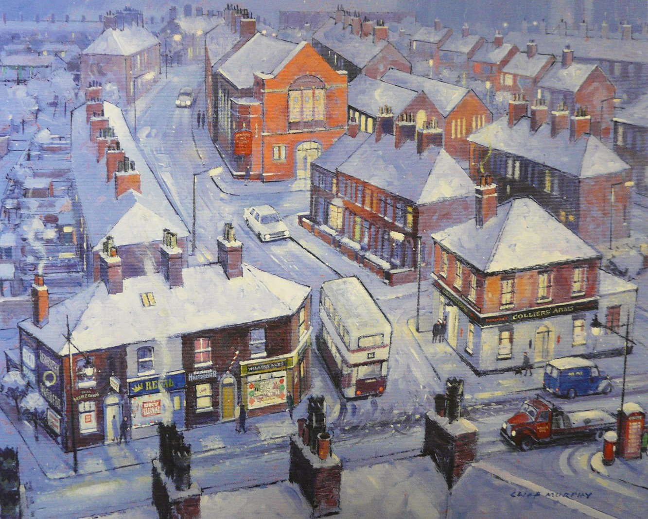 Honeywell Lane (Oldham) by Cliff Murphy, Northern | Nostalgic | Snow | Local