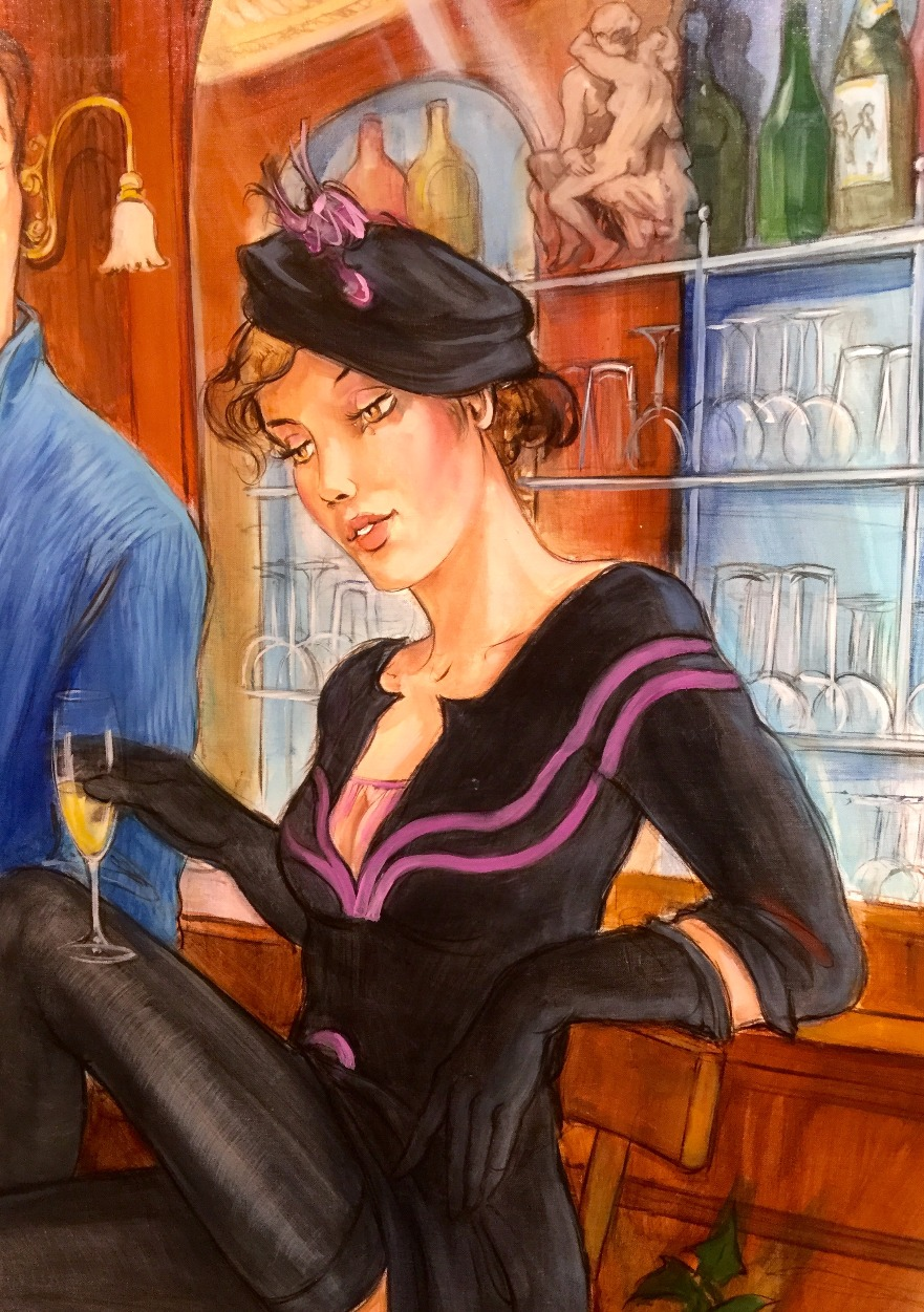 Rencontre au Bar (Meeting at the Bar) by Partarrieu, Figurative | French