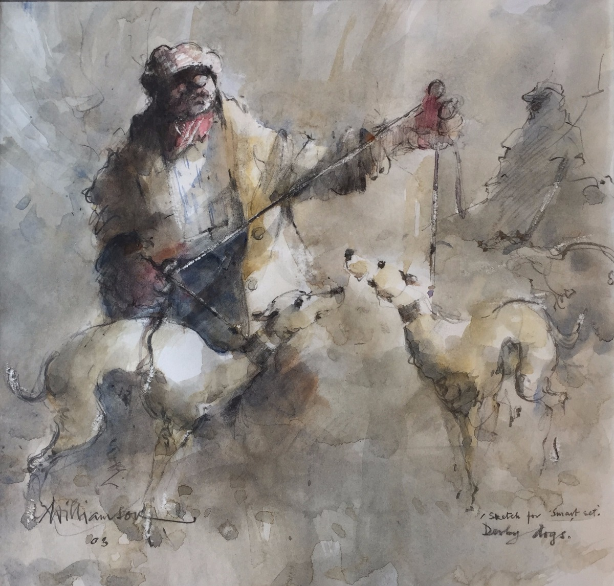 Derby Dogs by Lawrie Williamson, Dog | Northern | Nostalgic | Figurative