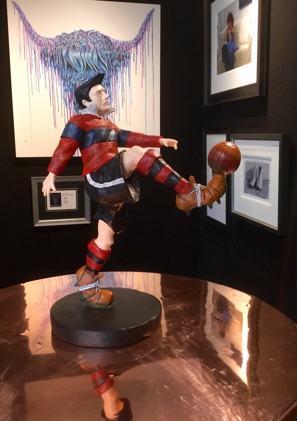 The Champion by Mackenzie Thorpe, Football | Sculpture | Nostalgic