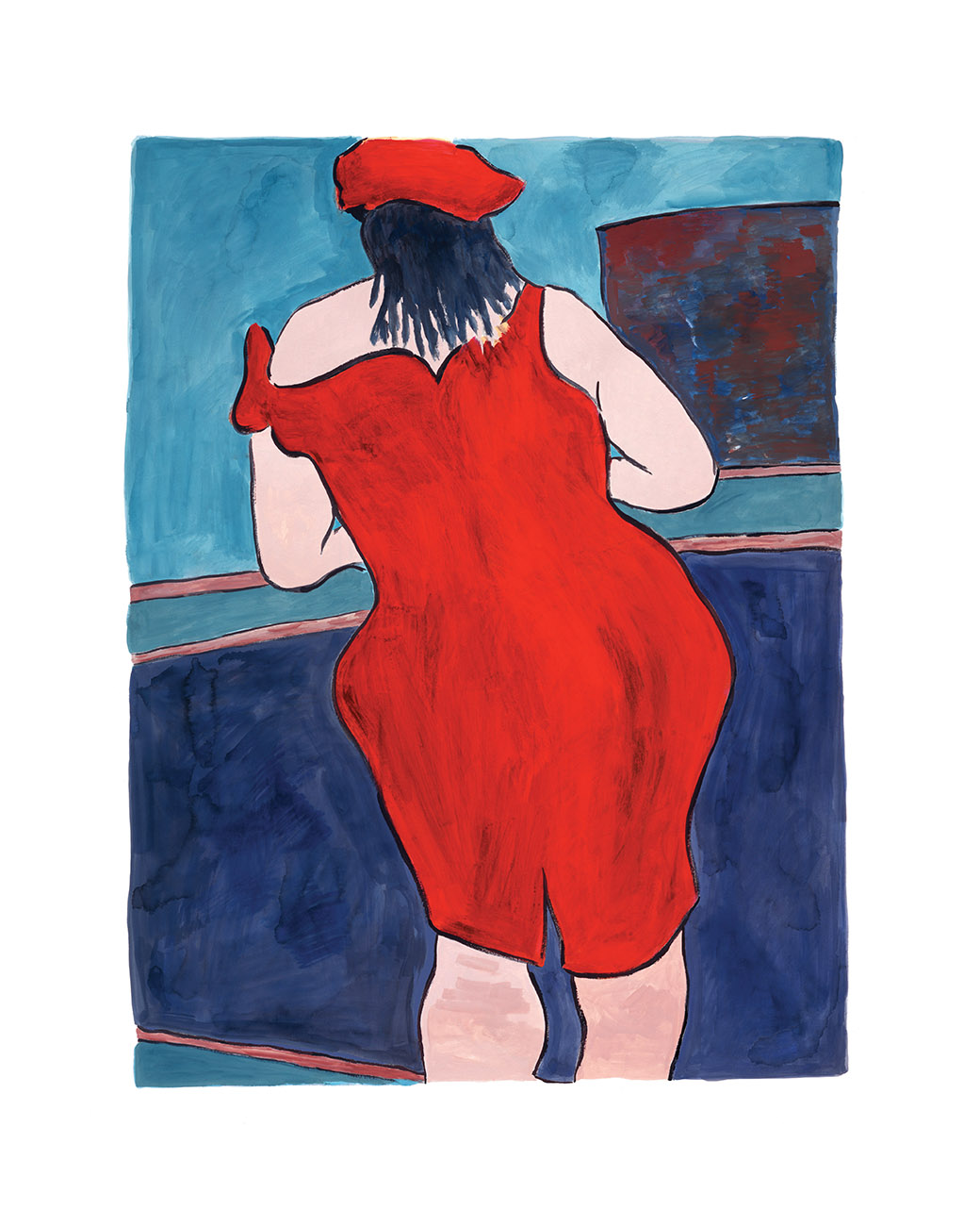 Woman in Red Lion Pub (2016) by Bob Dylan, Music | Figurative | Dylan