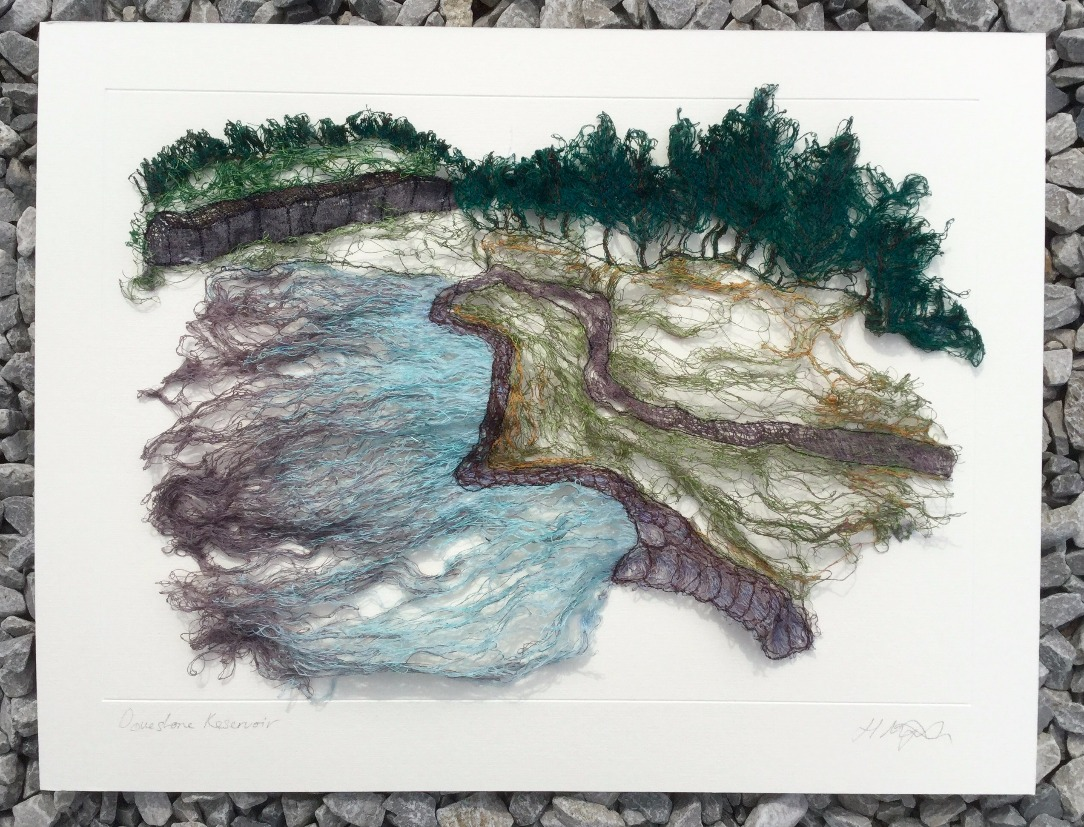 Dovestone Reservoir (Saddleworth) by Hayley Murphy, Landscape | Textile | Water | Local
