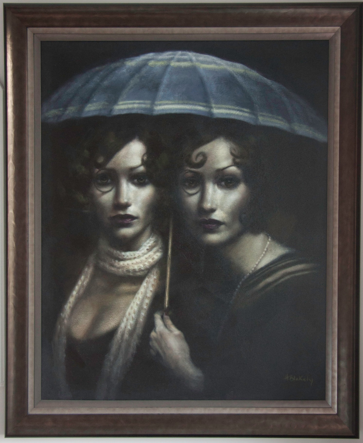 Between the Lines by Hamish Blakely, Figurative | Portrait | Rare | Customer Sale