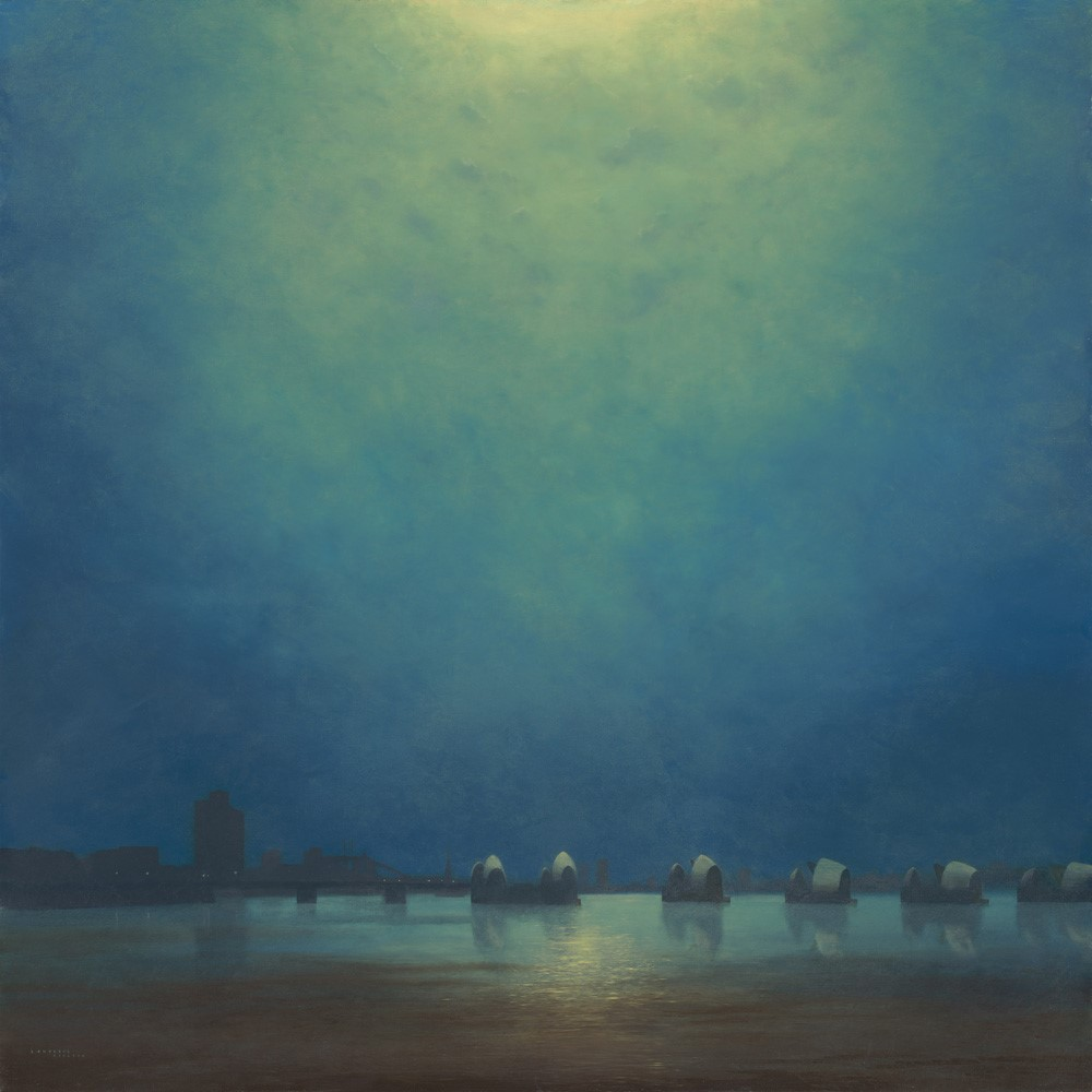 Moonlight, Thames Barrier by Lawrence Coulson, London