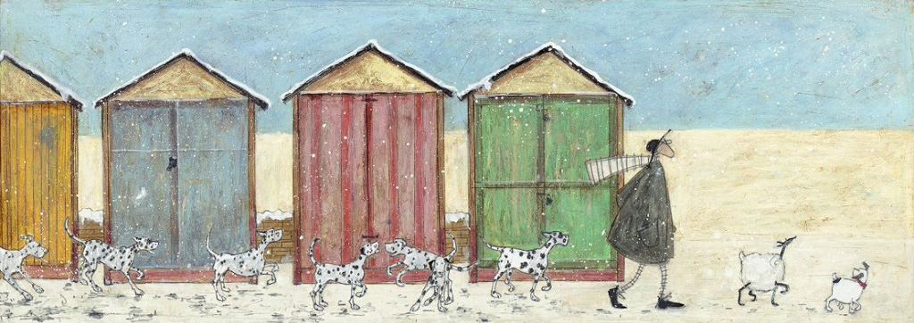 Spots 'n Flakes (Remarque) (1/150) by Sam Toft, Dog | Animals | Rare | Humour | Figurative