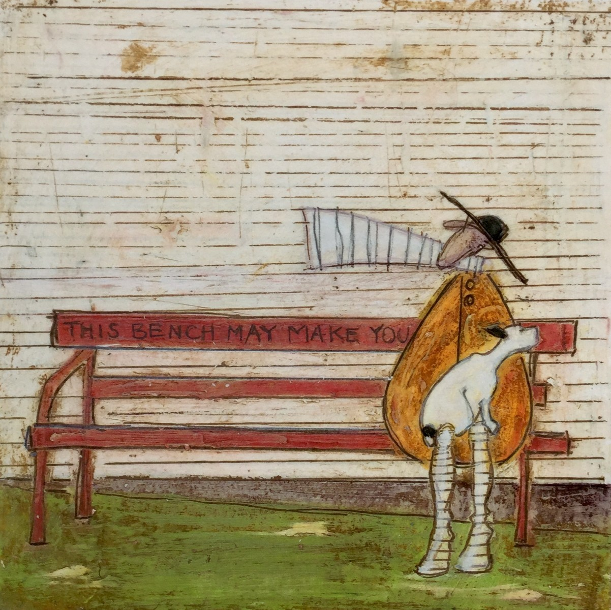 This Bench May Make You Happy! by Sam Toft