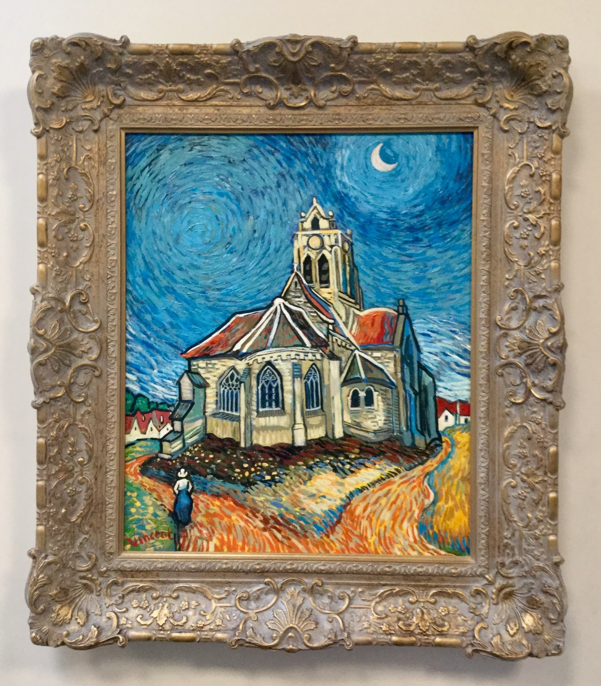The Church at Auvers in the Style of Vincent Van Gogh by John Myatt