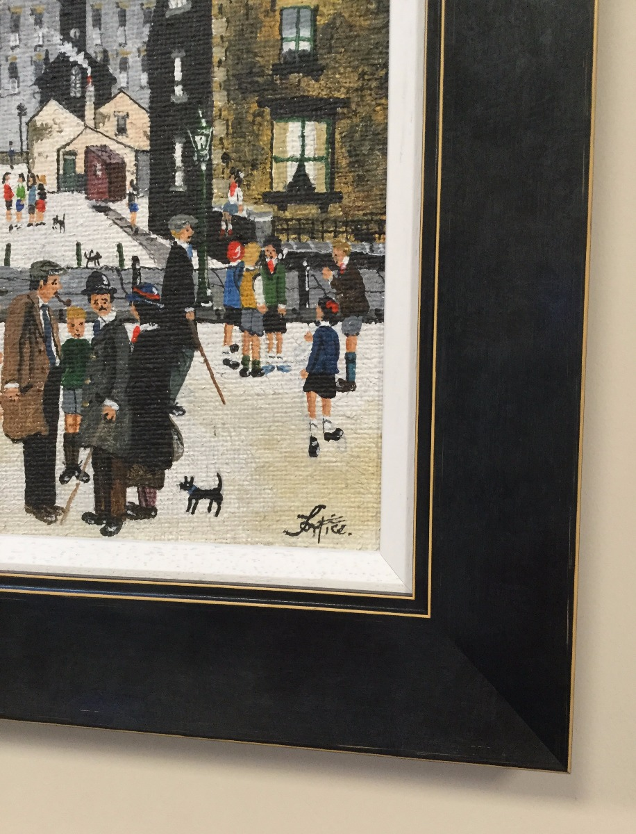Street Scene by Allen Tortice, Northern | Lowry | Nostalgic | Children