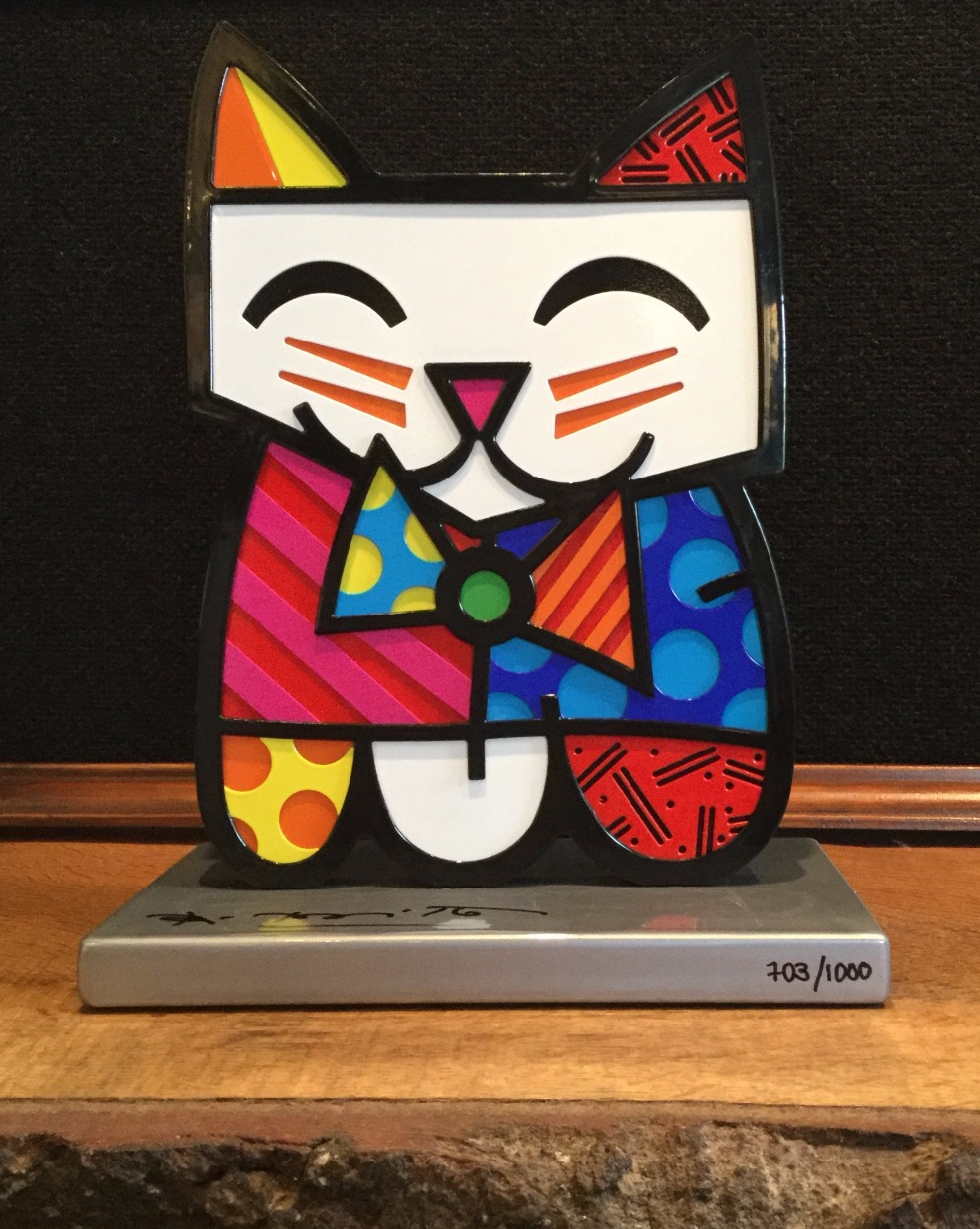 Squeak by Romero Britto, Family | Animals | Cat | Sculpture