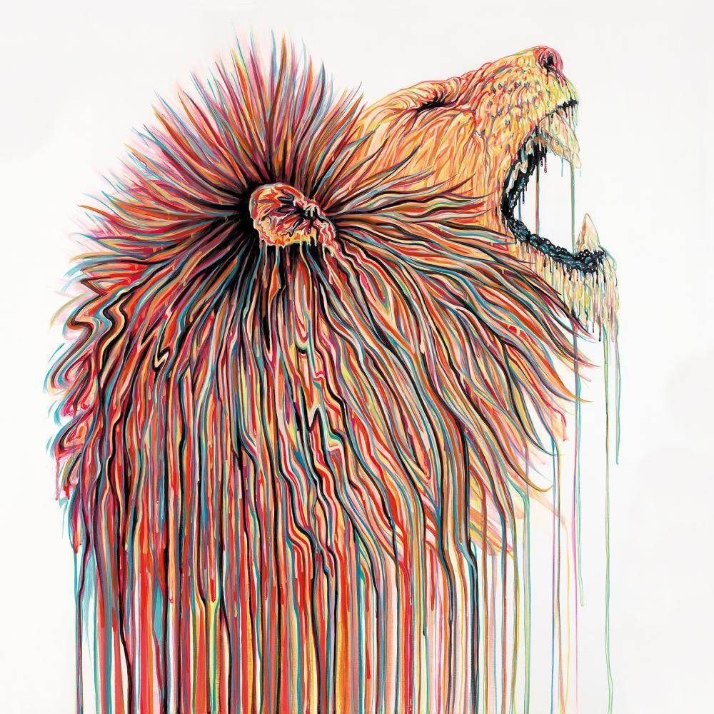 King for a Day by Robert Oxley, Abstract | Animals | Lion