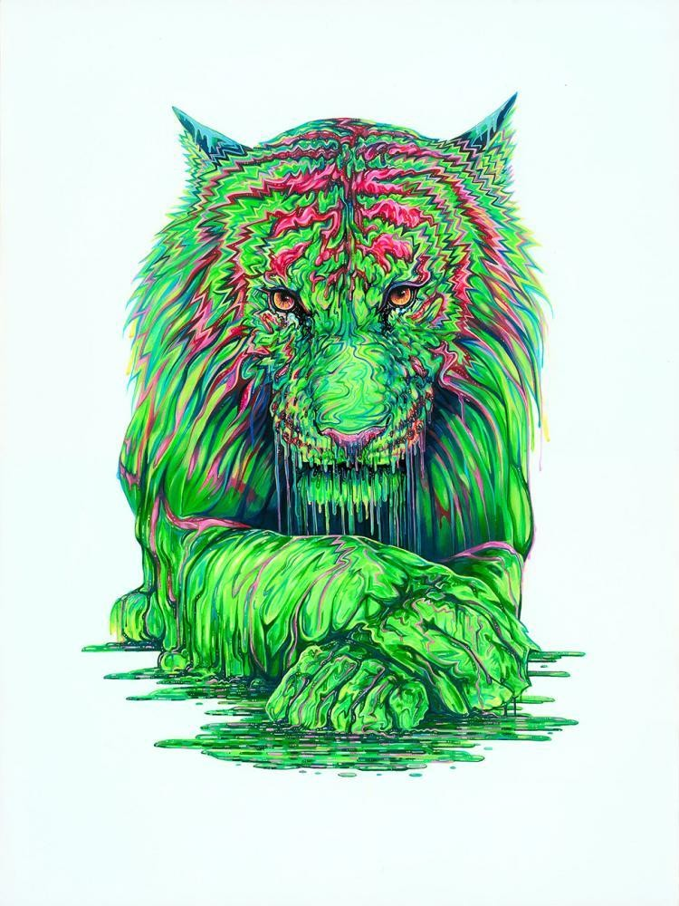 You Wouldn't Like Me When I'm Angry by Robert Oxley, Tiger | Animals | Abstract | Marvel