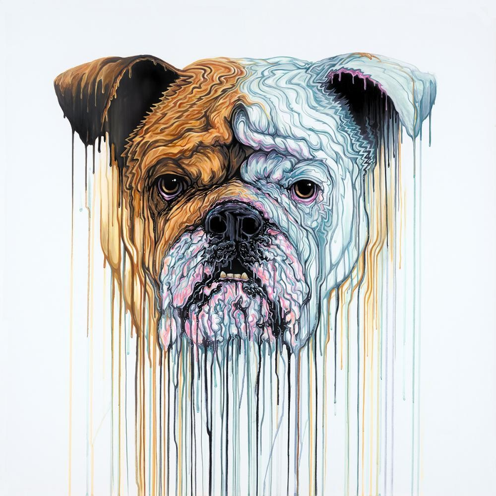 Churchill by Robert Oxley, Dog | Political | Animals | Abstract