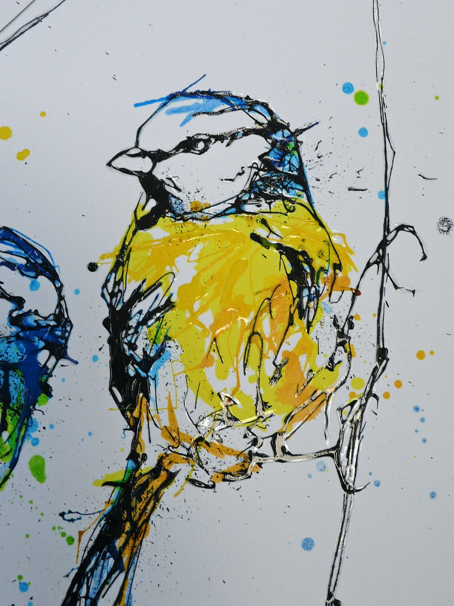 Chitter Chatter by Kathryn Callaghan, Bird | Animals | Abstract