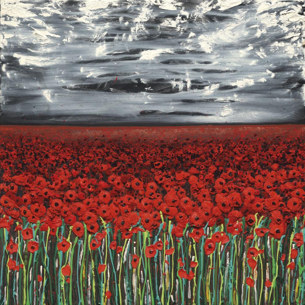 The Danger Tree IV (Set of 4) by Scarlett Raven, Abstract | Flowers