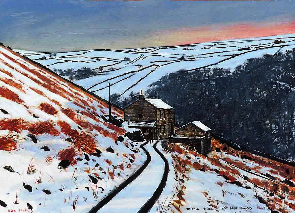 Visiting Friends In High Places by Peter Brook, Figurative | Naive | Northern | Nostalgic | Snow