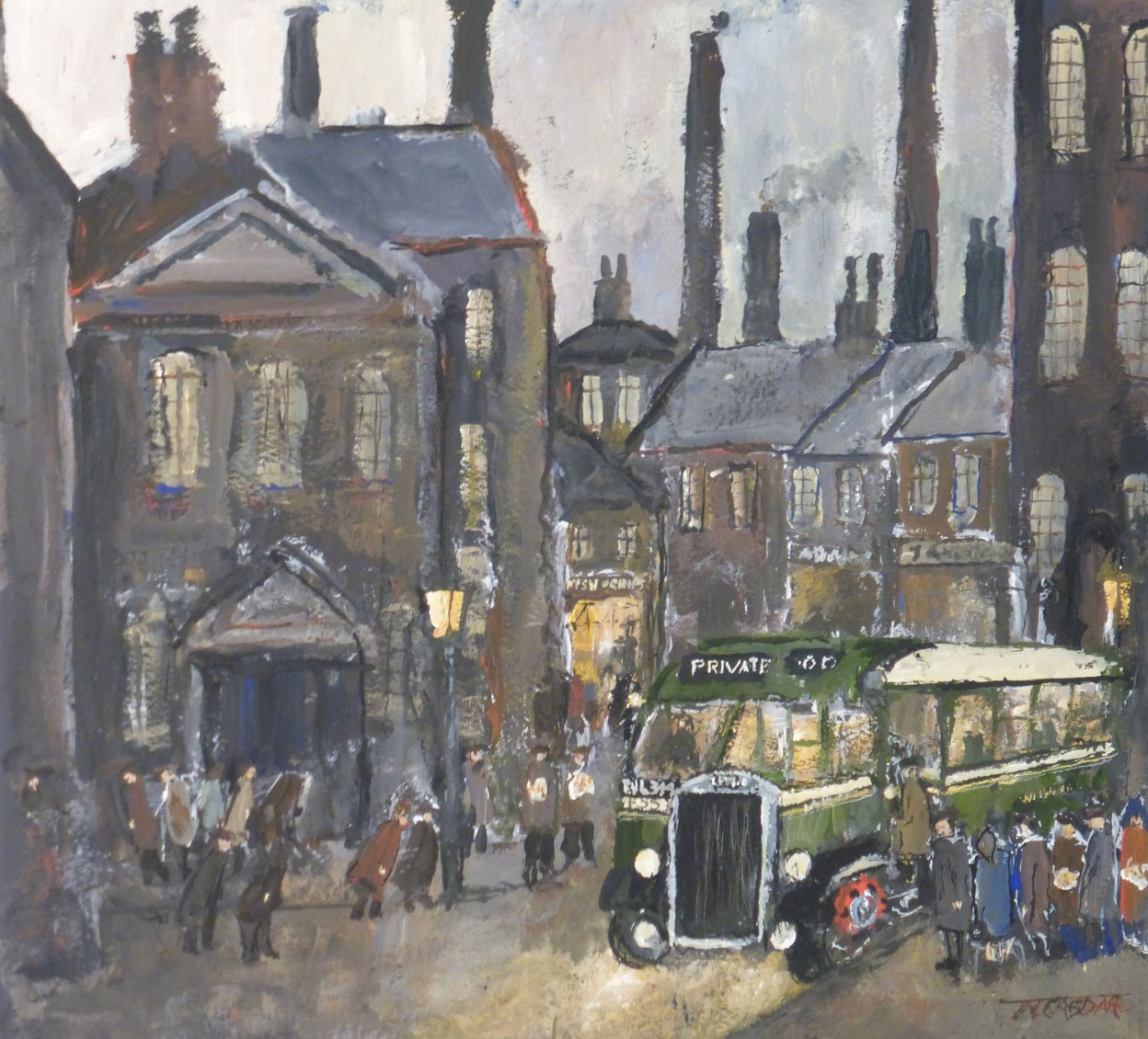 Queuing Up by Malcolm Teasdale, Northern | Nostalgic