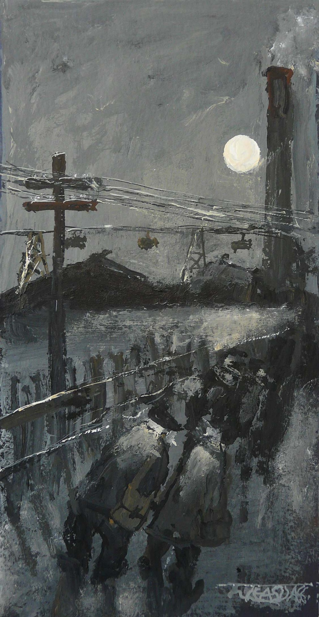 Follow the Moon by Malcolm Teasdale, Northern | Nostalgic | Industrial
