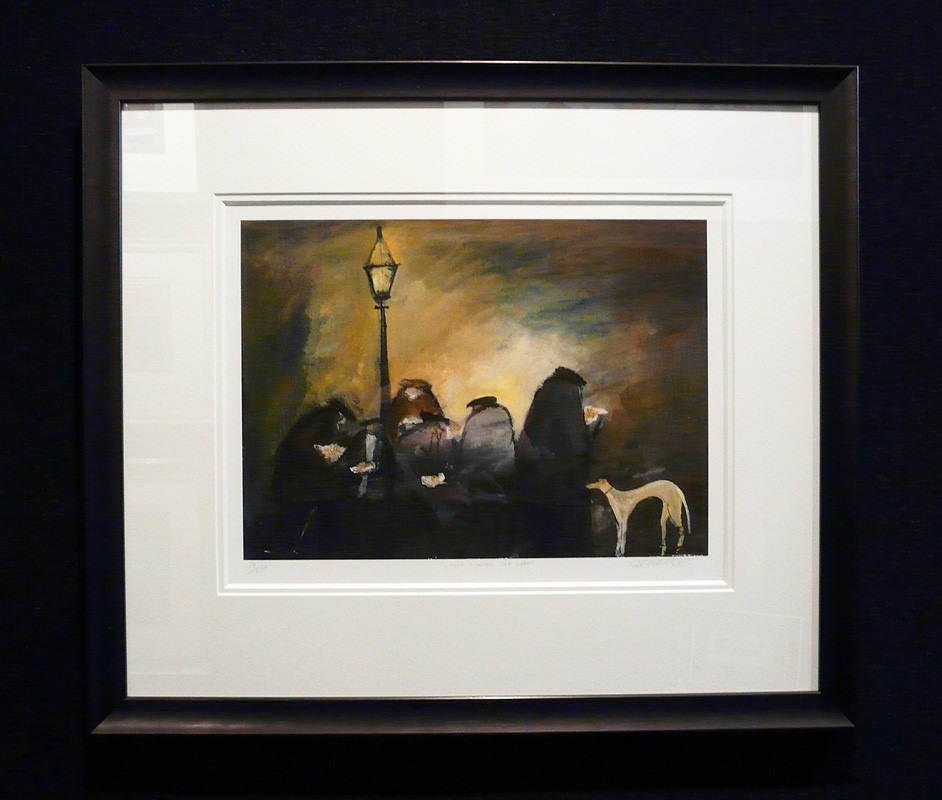 Chips under the Lamp by Malcolm Teasdale, Dog | Industrial | Nostalgic | Northern