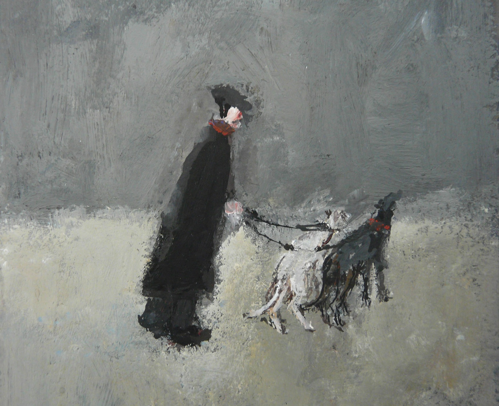 Walking the Dogs by Malcolm Teasdale, Dog | Snow | Northern | Nostalgic