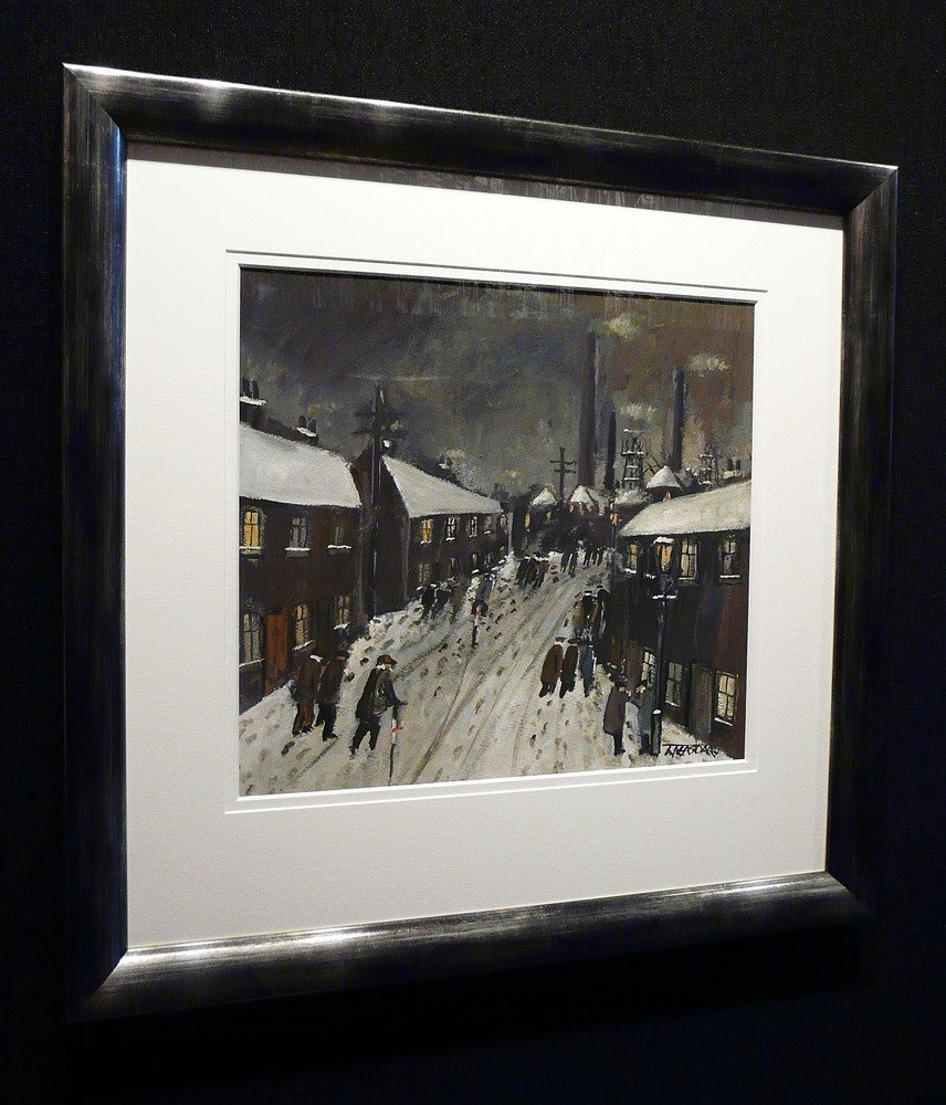 First Shift by Malcolm Teasdale, Northern | Lowry | Industrial | Snow | Mining