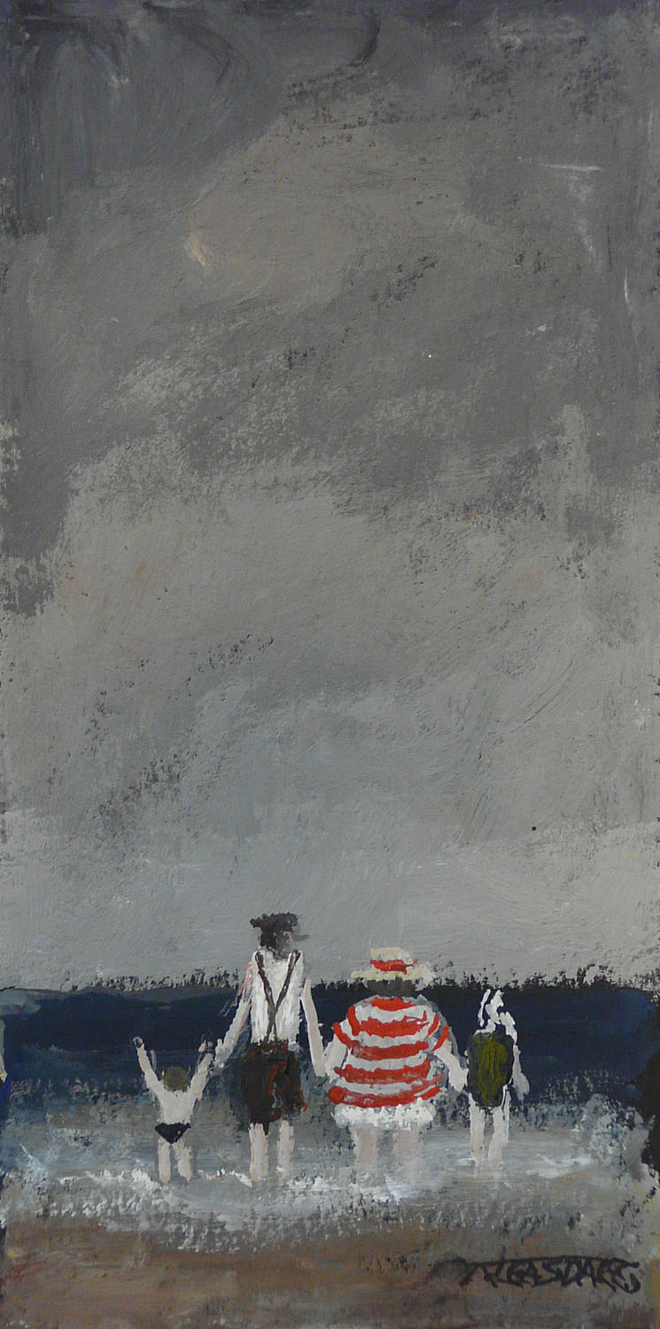 Testing the Water by Malcolm Teasdale, Water | Sea | Family | Northern | Nostalgic