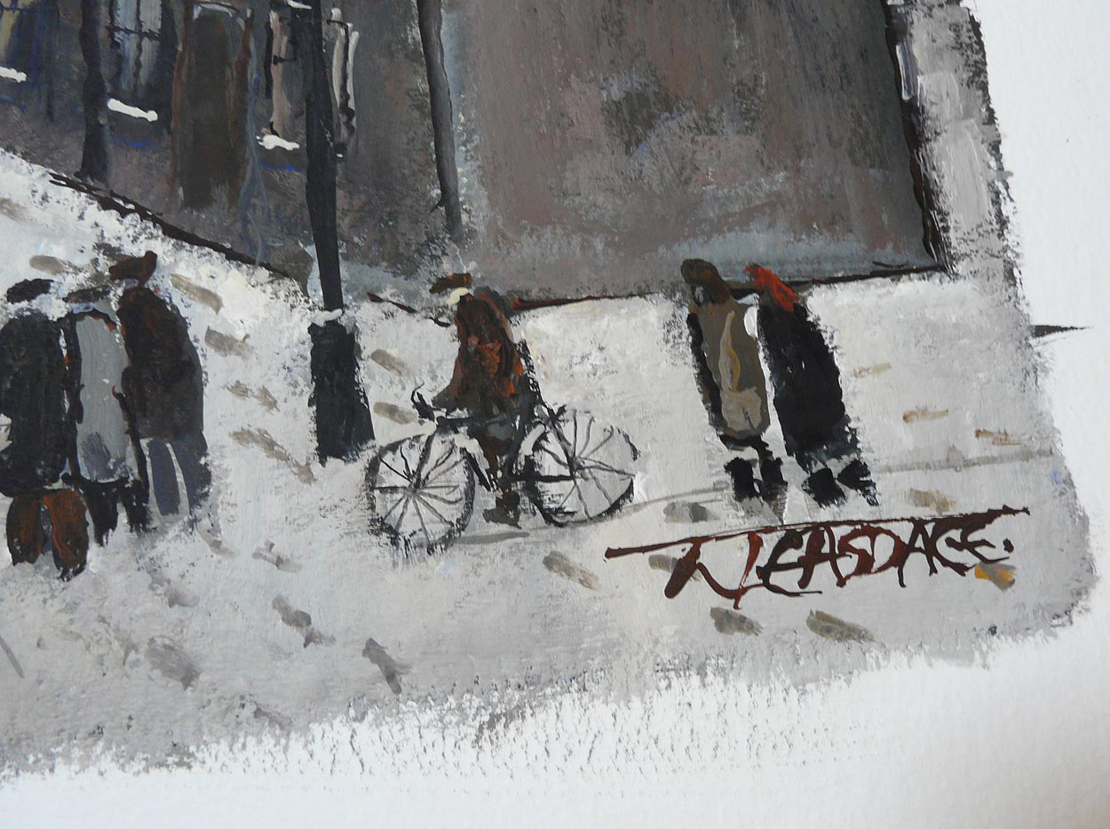 Going t' Mill by Malcolm Teasdale, Northern | Nostalgic | Industrial