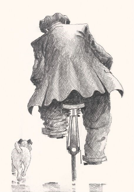 Side by Side by Alexander Millar, Bicycle | Dog | Gadgie | Nostalgic | Transport