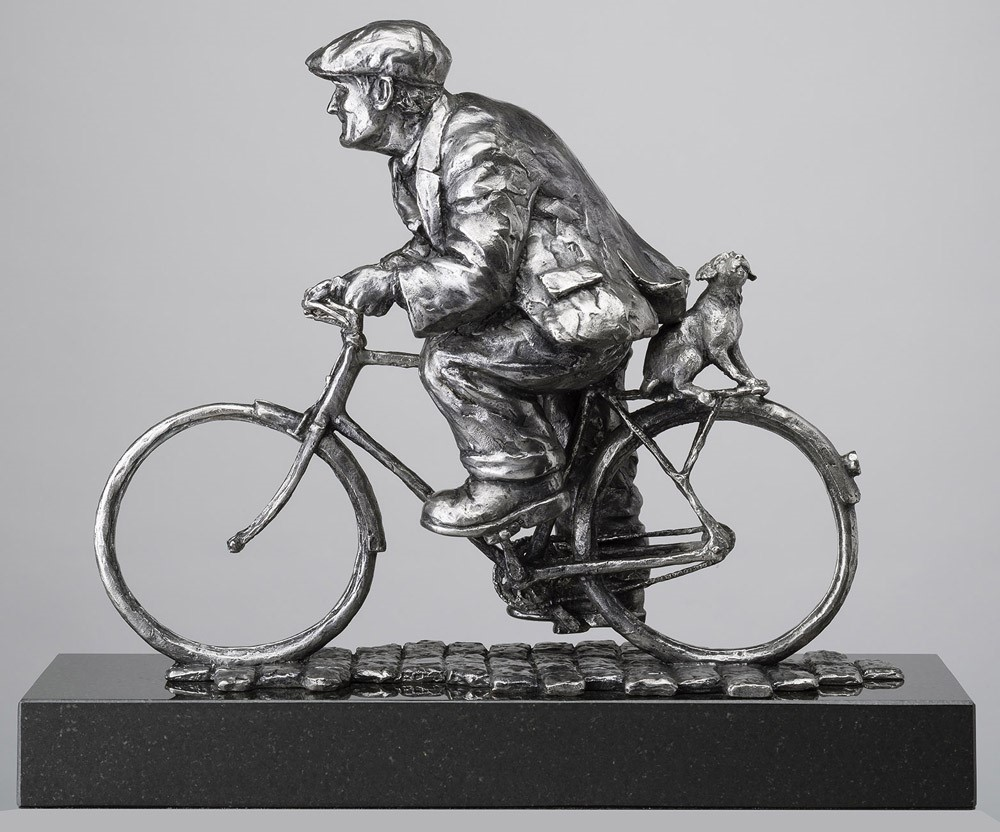 No Walkies for Me by Alexander Millar, Bicycle | Dog | Gadgie | Sculpture
