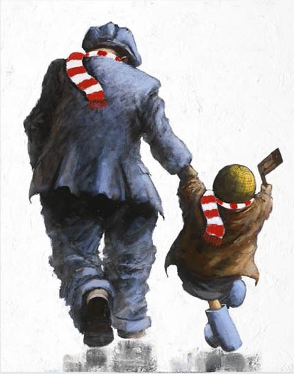 Come on You Reds! by Alexander Millar, Nostalgic | Northern | Gadgie | Football | Children | Rare