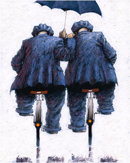 Under my Umbrella by Alexander Millar, Northern | Nostalgic | Gadgie | Figurative