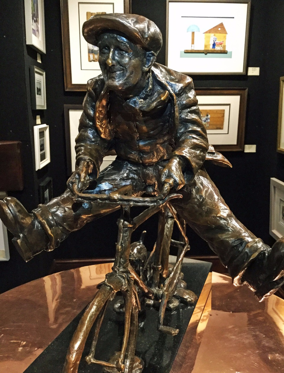 Wheeee! by Alexander Millar, Sculpture | Dog | Northern | Nostalgic | Gadgie