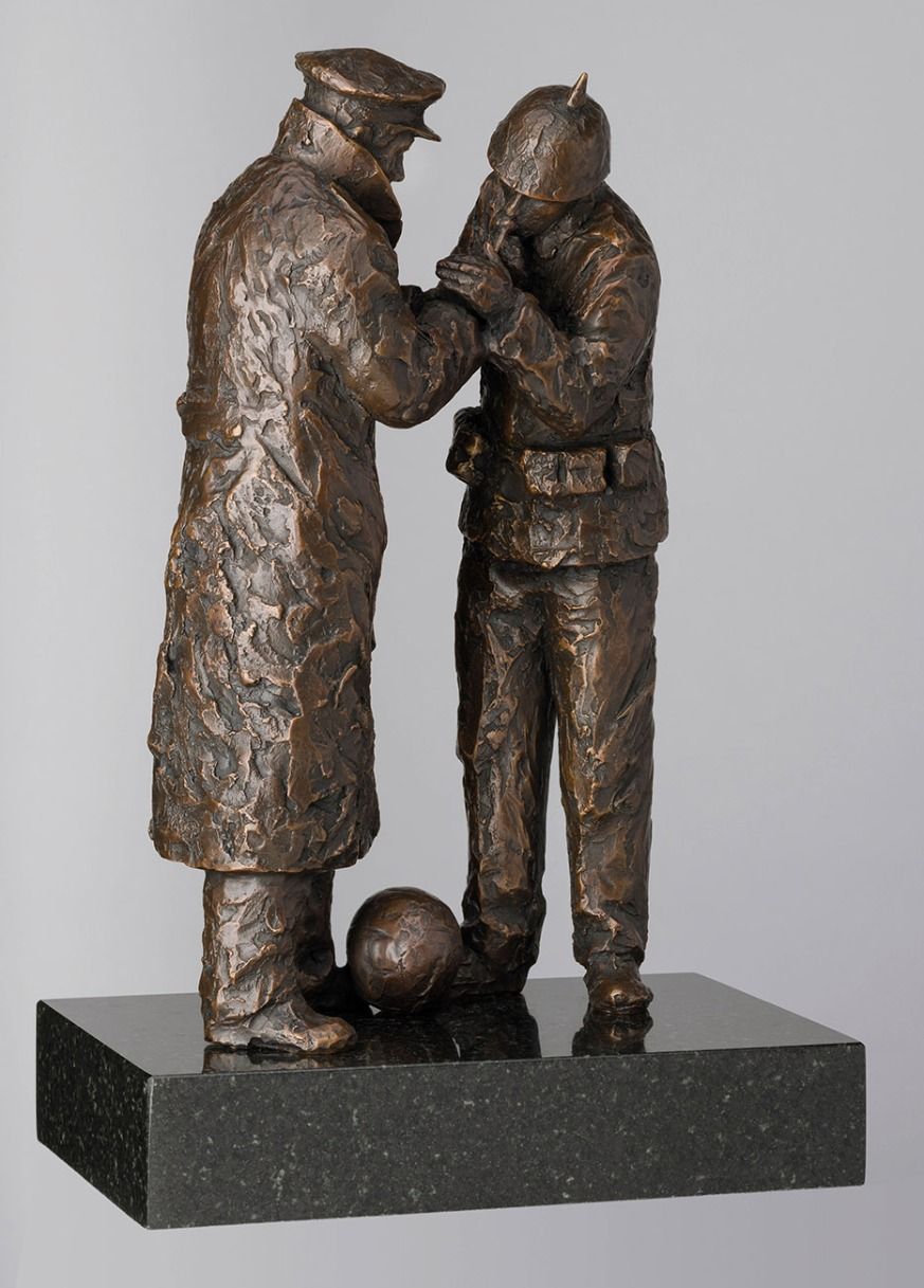 Match of the Day (1914, Christmas Truce) by Bob Barker, Nostalgic | Figurative | Sculpture | Sport | Rare