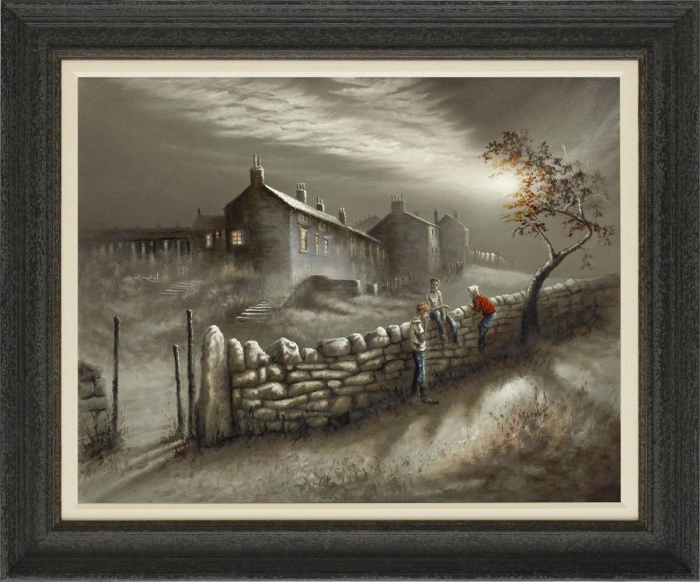 Crafty Fag by Bob Barker, Northern | Nostalgic | Industrial | Landscape | Figurative | Local
