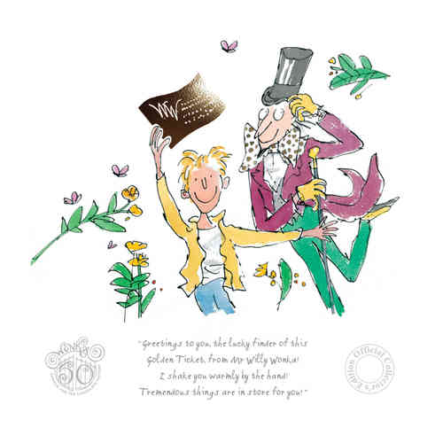 Charlie & the Chocolate Factory 50th Anniversary Edition by Quentin Blake, Children | Nostalgic | Film