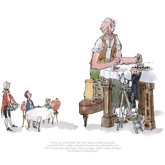 The BFG has Breakfast with the Queen by Quentin Blake, Children
