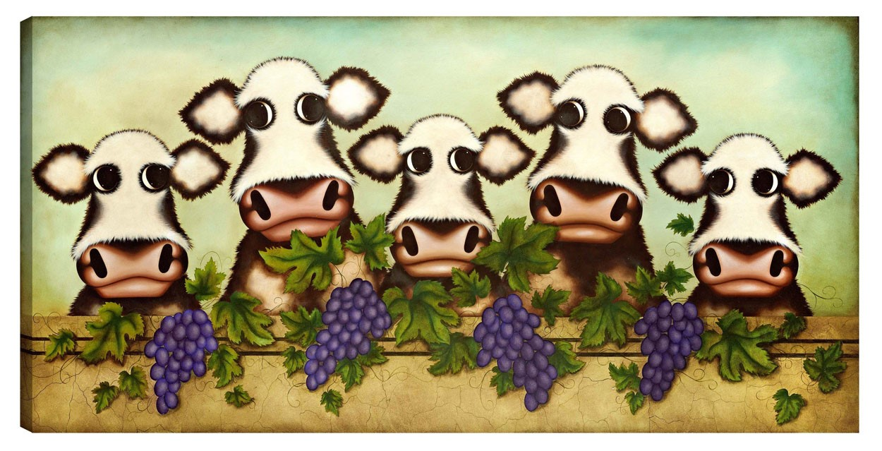 Herd it Through the Grapevine by Caroline Shotton, Family | Humour | Cow | Children | Love