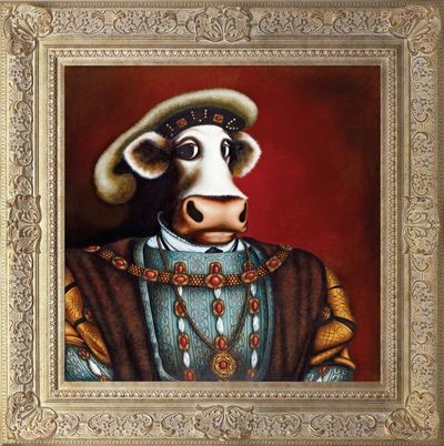 Henry VIII by Caroline Shotton, Cow | Humour