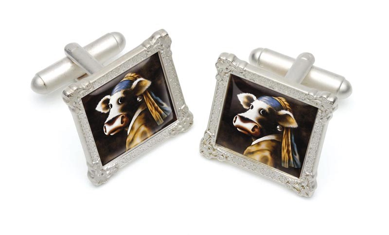 Cow with the Pearl Earring by Caroline Shotton, Accessories