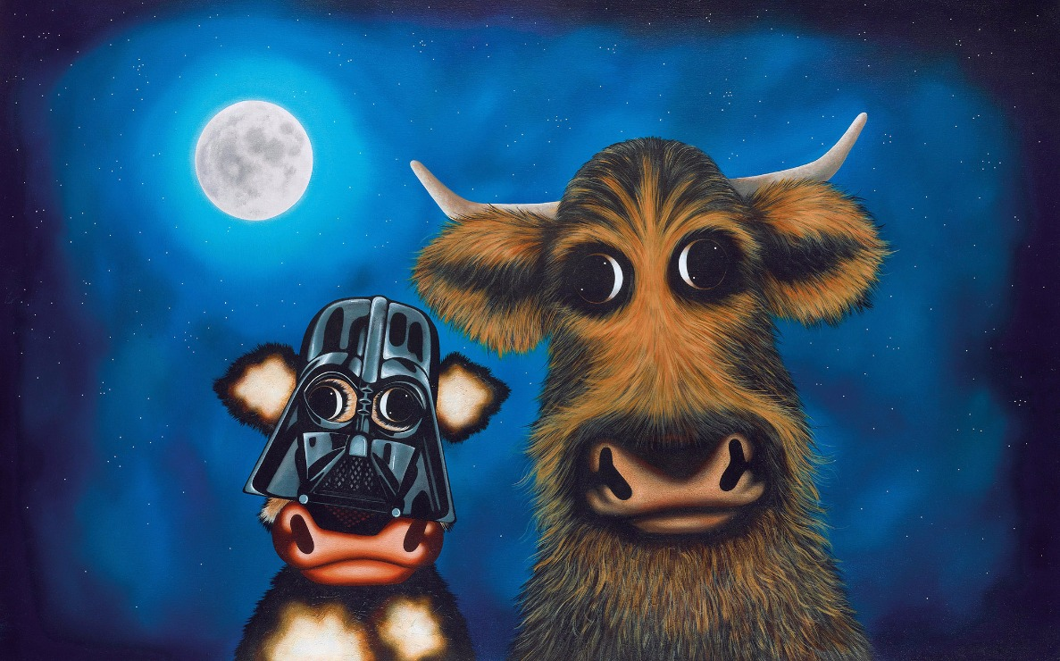 Calf Vader and Chewie the Cud by Caroline Shotton, Humour | Cow