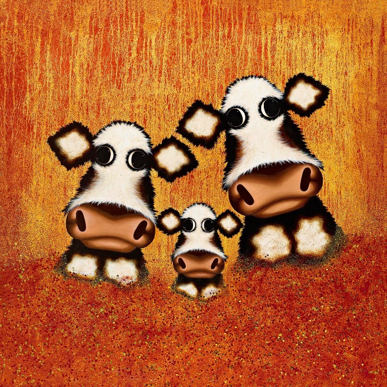 Bring me Sunshine in Your Smile by Caroline Shotton, Cow | Humour | Animals