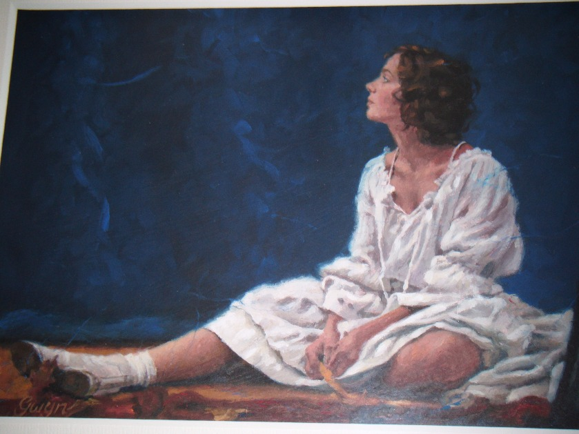 Lucy in the Candlelit Room by Gwyn Jones, Customer Sale | Figurative