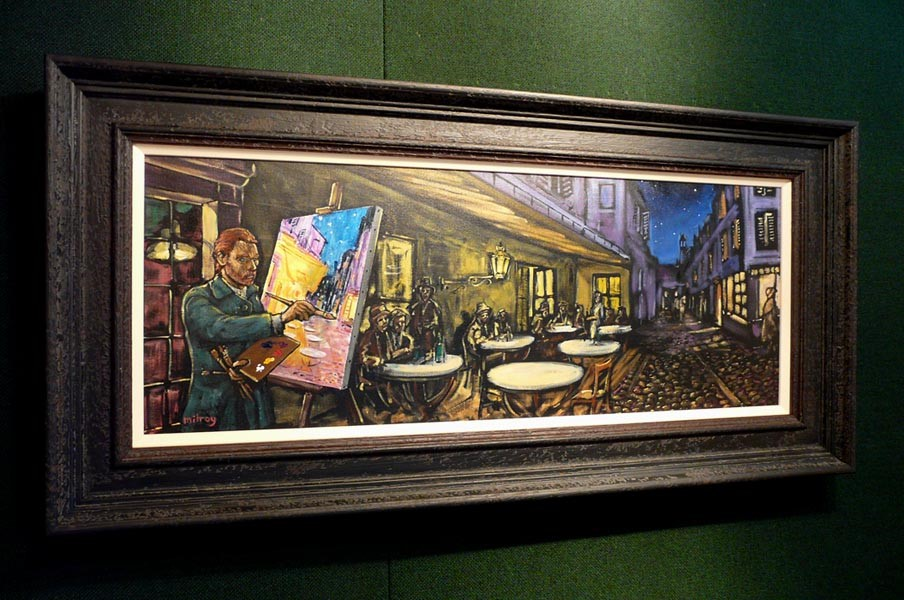Vincent Painting Cafe Terrace at Night by James Milroy