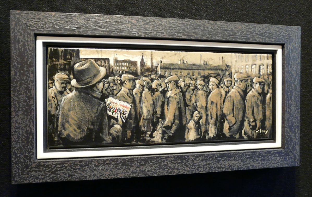 Lowry Sketching a Crowd by James Milroy, Lowry | Local | Northern | Nostalgic