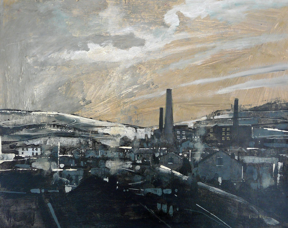Snow on the Tops by David Bez, Northern | Snow | Nostalgic | Industrial | Landscape