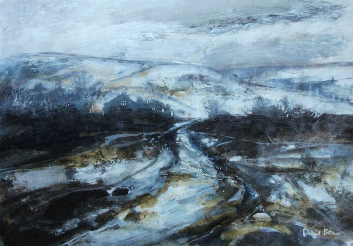 In snow by David Bez, Snow | Northern | Nostalgic | Landscape | Abstract