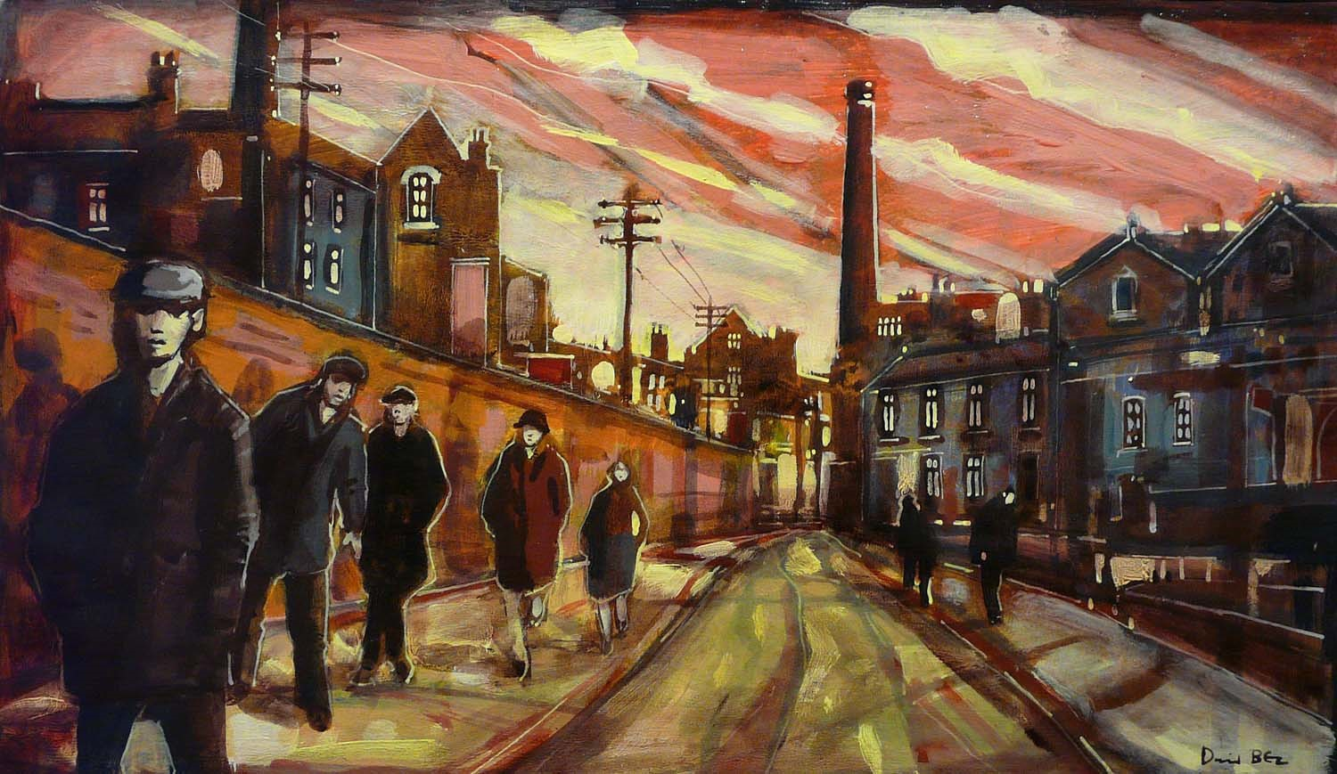Streets of Gold by David Bez, Northern | Landscape