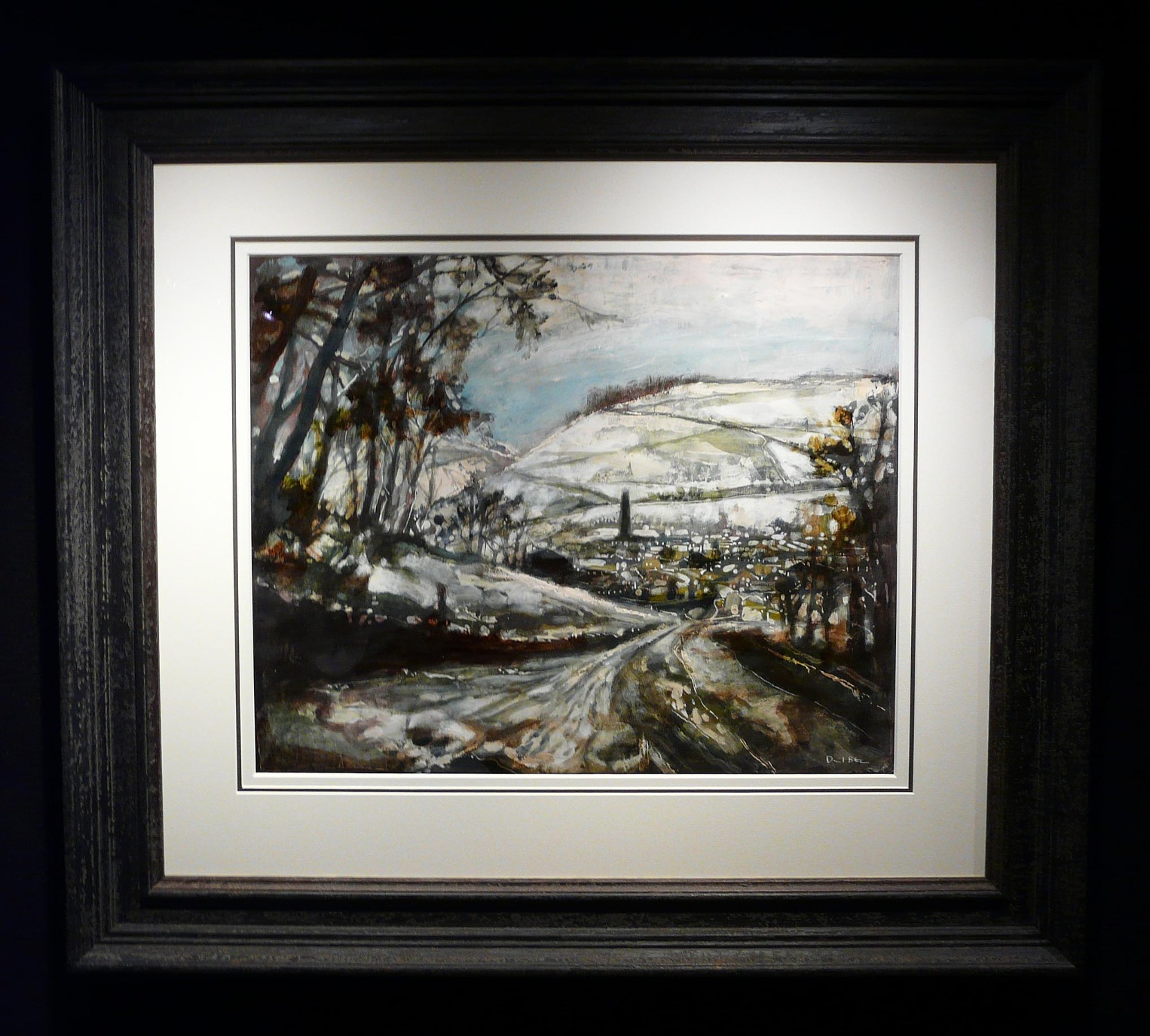 The Only Road into Town by David Bez, Northern | Nostalgic | Snow | Landscape | Local