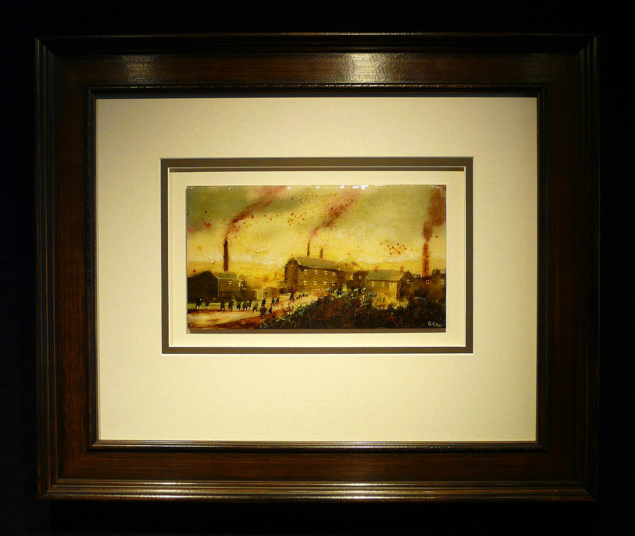 The School Run by David Bez, Children | Nostalgic | Northern | Industrial | Landscape
