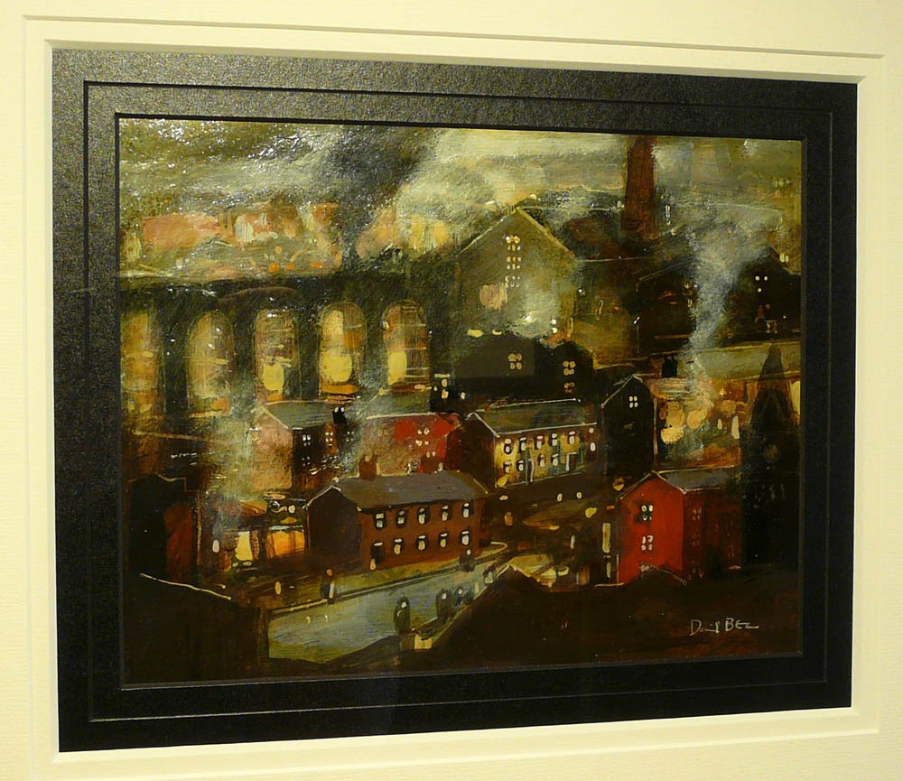 The Moors above the Mills below by David Bez, Northern | Nostalgic | Industrial | Landscape | Train